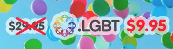 66% off .LGBT