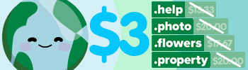 4 TLDs for $3