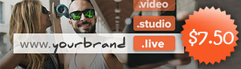 .LIVE, .STUDIO, and .VIDEO are $7.50