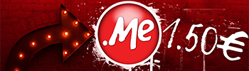 .ME domains are €1.5 EUR