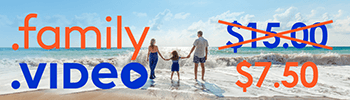 .FAMILY and .VIDEO for $7.50