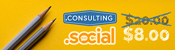 .CONSULTING and .SOCIAL for $8