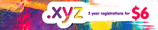 2-year Registrations of .XYZ for $6.00